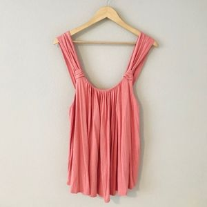 Anthropologie Vanessa Virginia Knotted Pink Tank